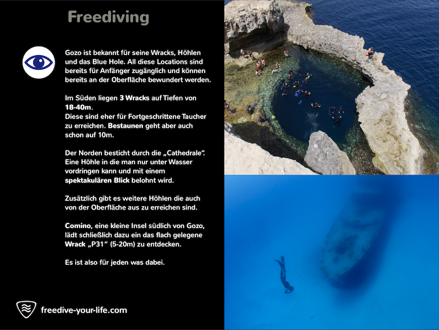 Gozo Freediving Camp Apnoe Freedive your Life Timo Niessner