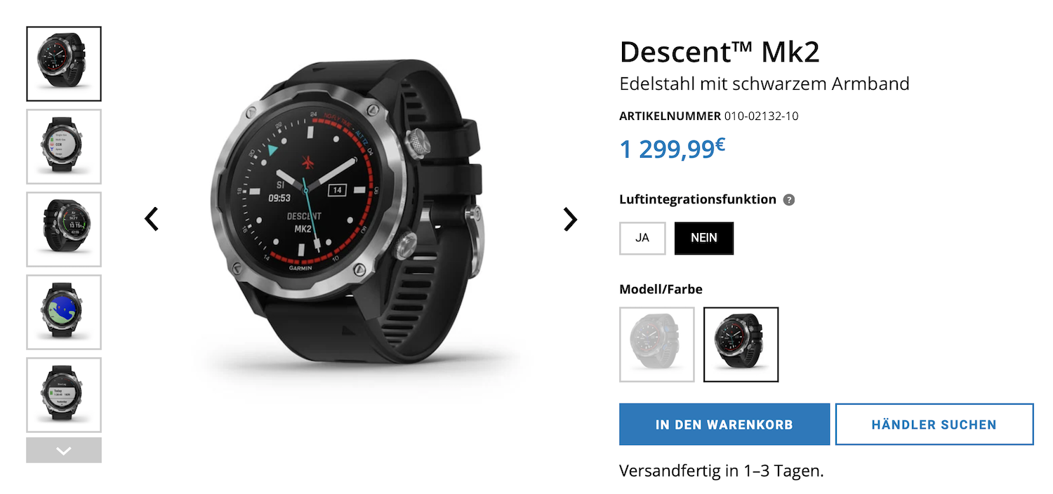 Garmin Descent Mk2 Review Test Vergleich MK2 vs. MK1 Freedive Your Life Timo Niessner